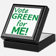 Vote Green 4 Me Keepsake Box