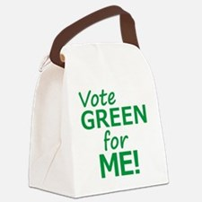 Vote Green 4 Me Canvas Lunch Bag