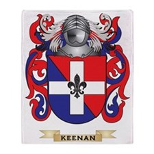 Keenan Coat of Arms (Family Crest) Throw Blanket