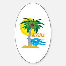 Aloha Oval Decal