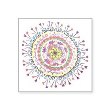 "Heart Mandala Square Sticker 3"" x 3"""