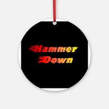 Hammer Down Ornament (Round)