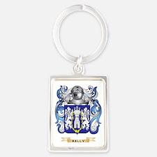 Kelly-(England) Coat of Arms (Fa Portrait Keychain