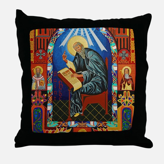 St. Bede Throw Pillow