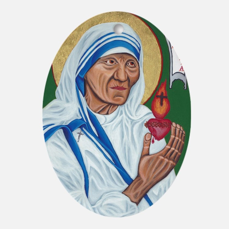 St. Teresa of Calcutta Oval Ornament