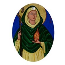 St. Brigid of Kildare Oval Ornament