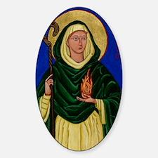 St. Brigid of Kildare Sticker (Oval)