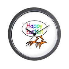 Hatching Happy Easter Egg Wall Clock