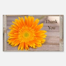 Thank You With Orange Sunflowe Decal