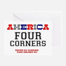 AMERICA REGIONS - FOUR CORNERS Greeting Card