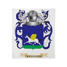 Kesseler Coat of Arms (Family Crest) Throw Blanket