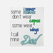 Superhero Dad Throw Blanket