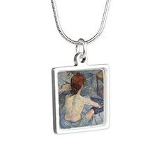 latoiletteshower Silver Square Necklace