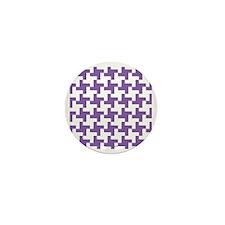 Retro Houndstooth Vintage Purple Mini Button
