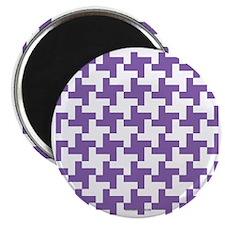 Retro Houndstooth Vintage Purple Magnet