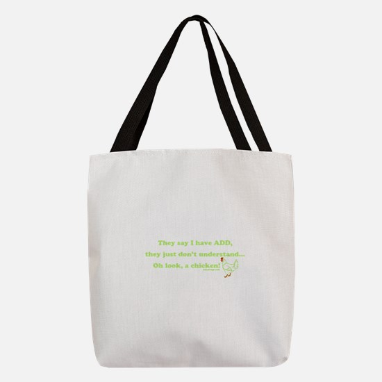 ADD Chicken Humor Polyester Tote Bag