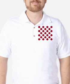 Polka Dots Sq W Red T-Shirt