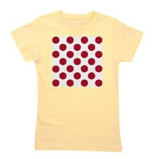 Polka Dots Sq W Red Girl's Tee
