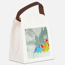 Snow Dinosaurs Canvas Lunch Bag