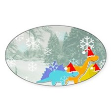 Snow Dinosaurs Decal