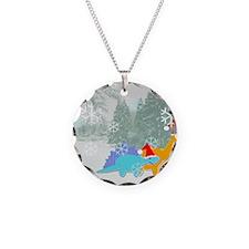 Snow Dinosaurs Necklace