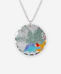 Snow Dinosaurs Necklace