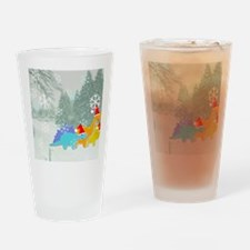 Snow Dinosaurs Drinking Glass