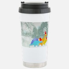 Snow Dinosaurs Stainless Steel Travel Mug