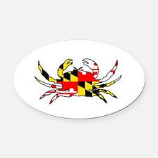 Cute Maryland Oval Car Magnet