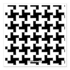 """Retro Houndstooth Vintag Square Car Magnet 3"""" x 3"""""""