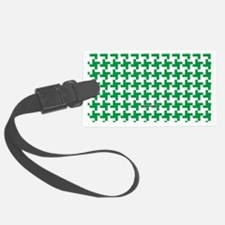 Reto Houndstooth Vintage Green Luggage Tag