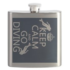 Keep Calm and Go Diving (scuba) Flask