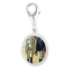 The Class Winner Jumper Horse Silver Oval Charm