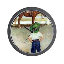 The Standoff Boy And Pony Wall Clock