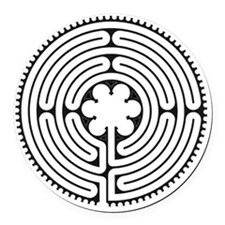 Chartres Essence Labyrinth Round Car Magnet