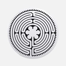 Chartres Essence Labyrinth Round Ornament