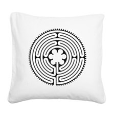 Chartres Essence Labyrinth Square Canvas Pillow