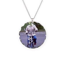 Alien On A Motor Bike Necklace