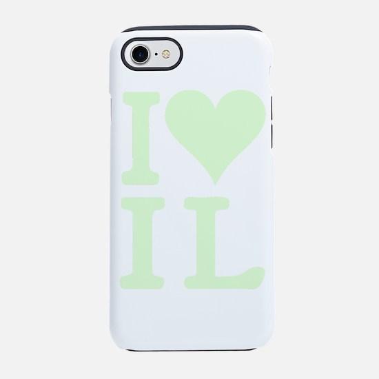 I Love Illinois IL Heart iPhone 7 Tough Case