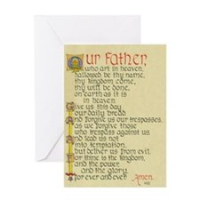 Lords Prayer2 Greeting Card