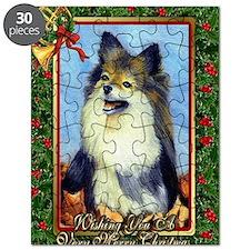 Pekingese Dog Christmas Puzzle