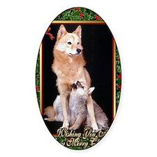 Finnish Spitz Dog Christmas Decal