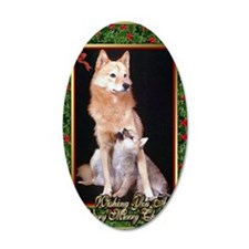 Finnish Spitz Dog Christmas Wall Decal