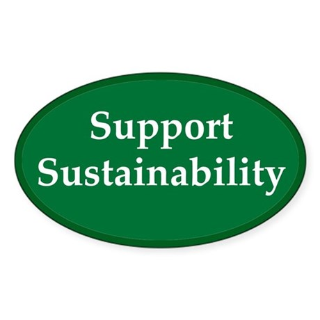 Support Sustainability Oval Sticker