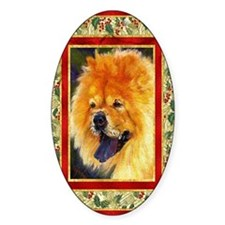 Chow Chow Dog Christmas Decal
