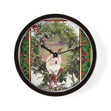 Welsh Corgi Pembroke Christmas Wall Clock