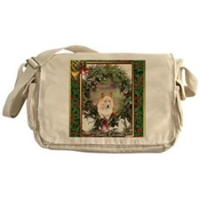 Welsh Corgi Pembroke Christmas Messenger Bag