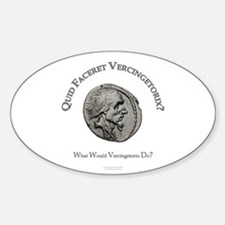 Vercingetorix (Latin/English) Oval Decal