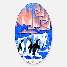 1965 Hungary Aurora Borealis Pengui Sticker (Oval)