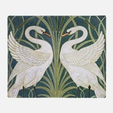 Swan and Rush Throw Blanket